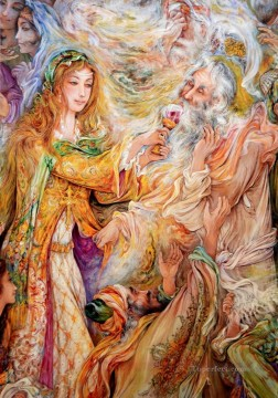 Blissfull Suffering Persian Miniatures Fairy Tales Oil Paintings